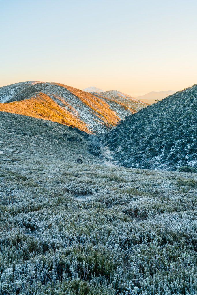 Landscape photograph of sunrise at Mt Hotham