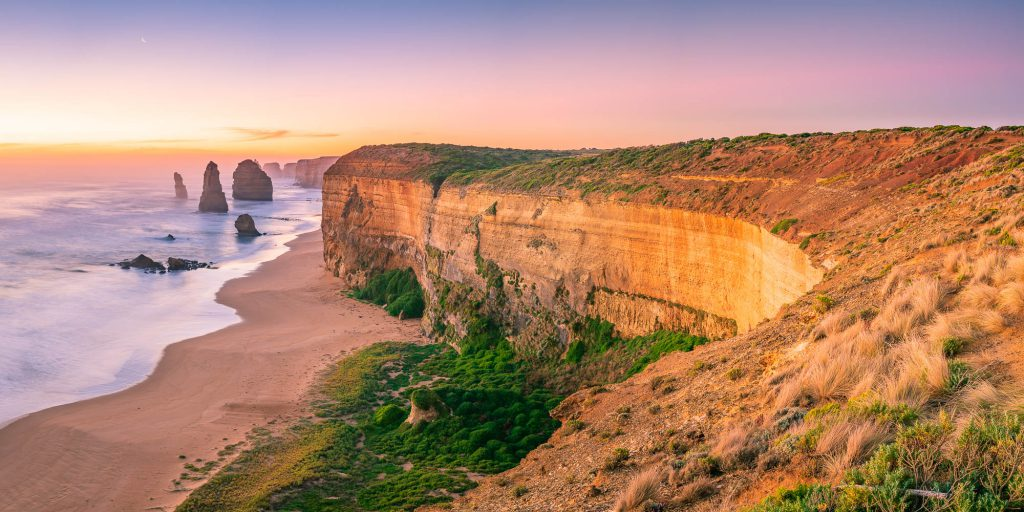 Sunset at the 12 Apostles along the Great Ocean Road