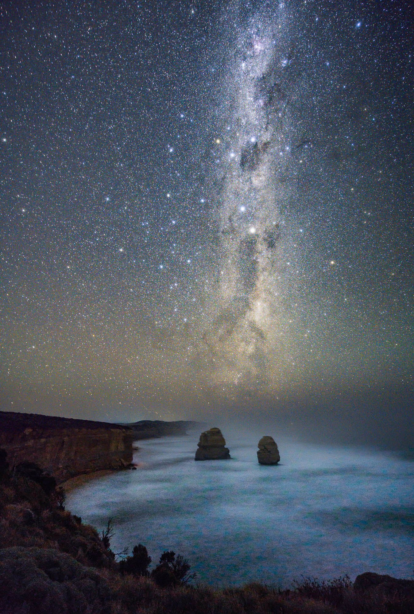 The Milky Way over Gibsons Step along the Great Ocean Road