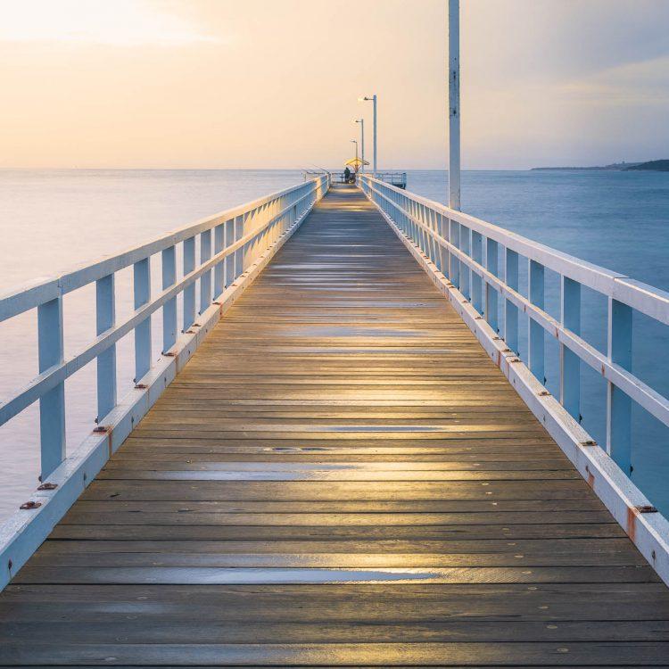 Landscape photograph of Pt Lonsdale Pier
