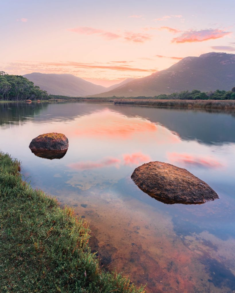 Sunrise photograph at Tidal River