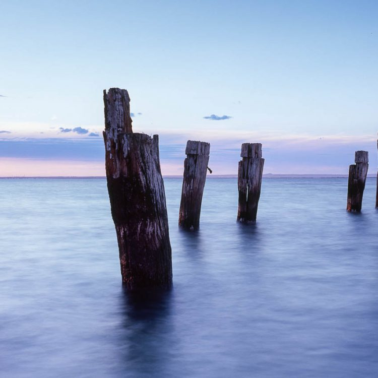 Landscape photograph of the old Clifton Springs Jetty