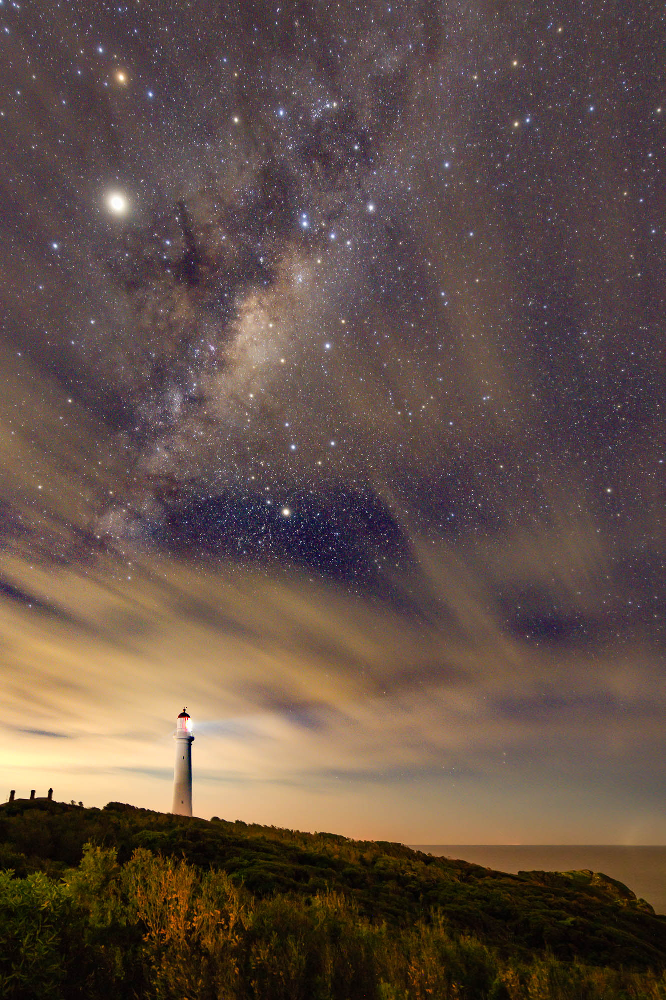 The night sky at Airey's Inlet along the Great Ocean Road